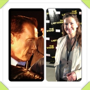 Arnold Schwarzenegger and Johnny Knoxville at The Last Stand Red Carpet Premiere Dallas